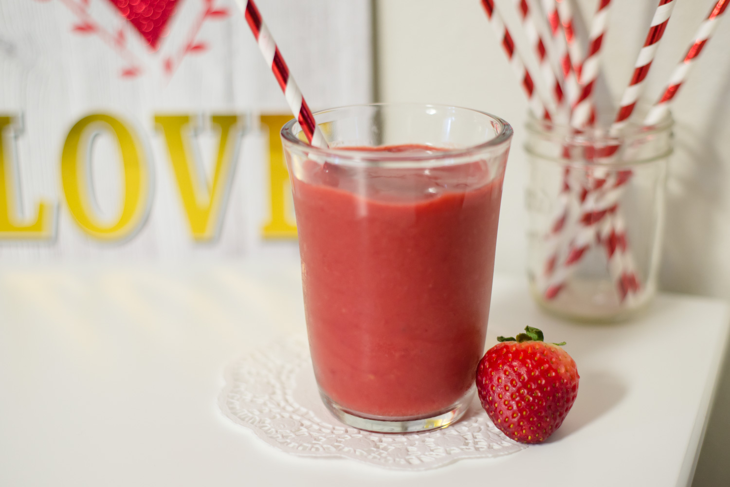 4 Ingredient Strawberry Mango Slushies