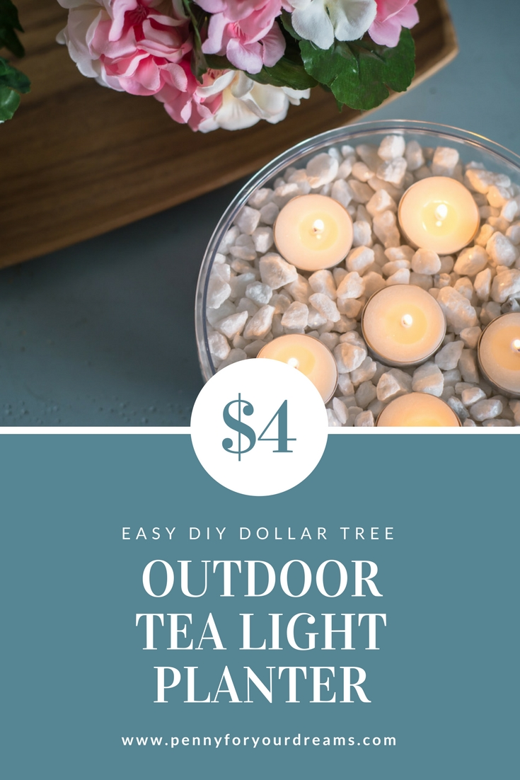 5 Minute Dollar Tree DIY | $4 Outdoor Tea Light Planter