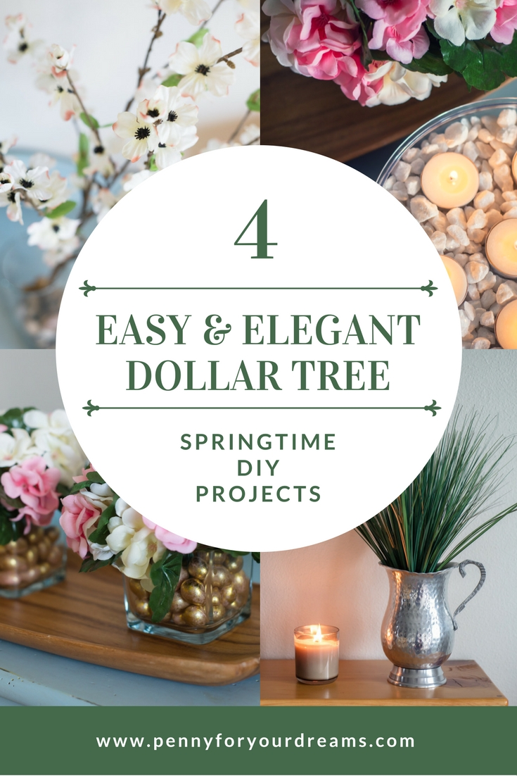 Dollar Tree Spring Decor | 4 Easy and Elegant DIY Projects