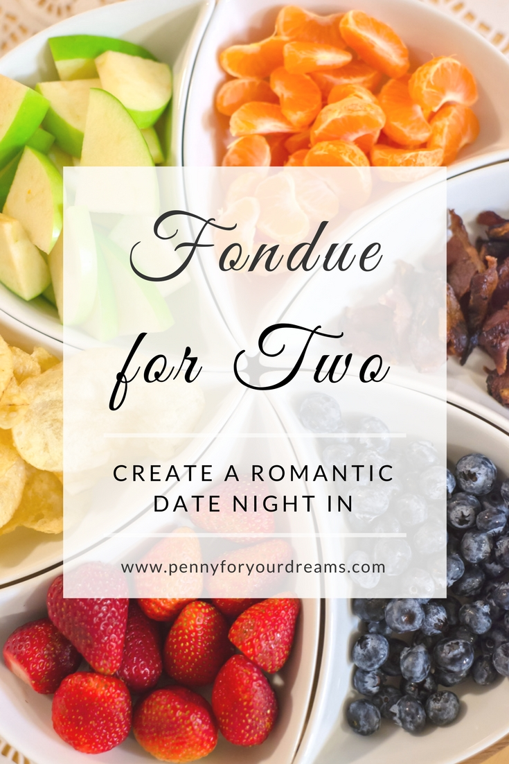 Fondue Night for Two | Romantic Date Night In (Cheese & Chocolate!)