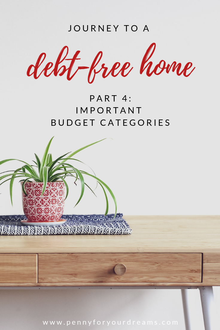 Important Budget Categories | Journey to a Debt-Free Home (part 4)