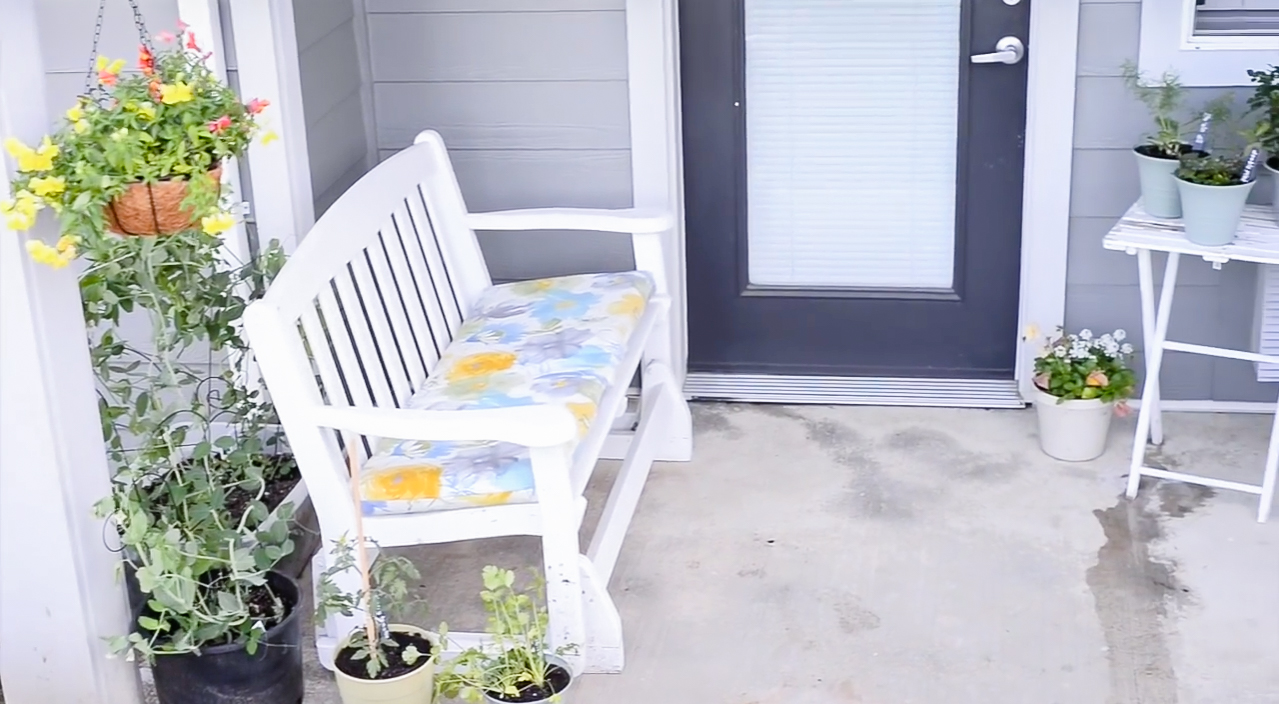 Apartment Patio Garden on a Budget | Before and After!