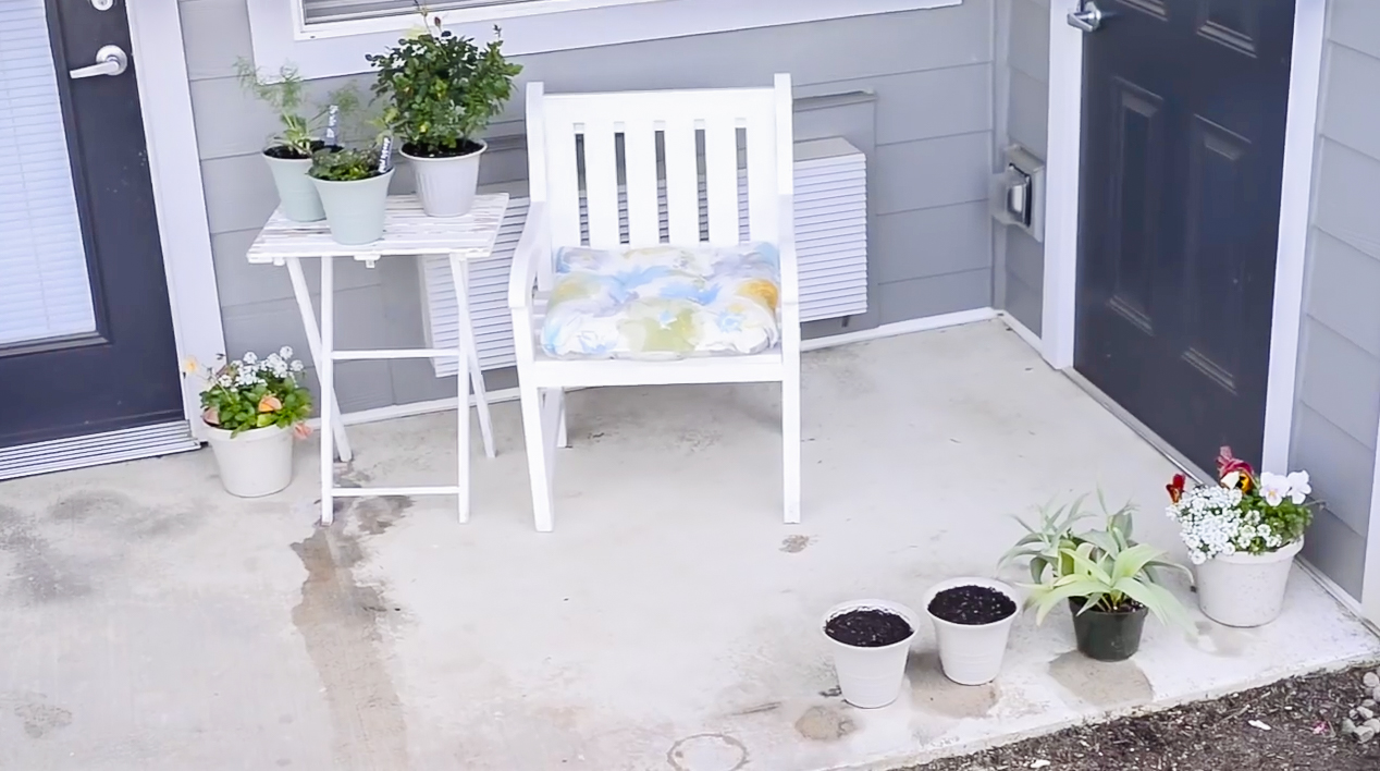Apartment Patio Garden on a Budget | Before and After Photos & Video
