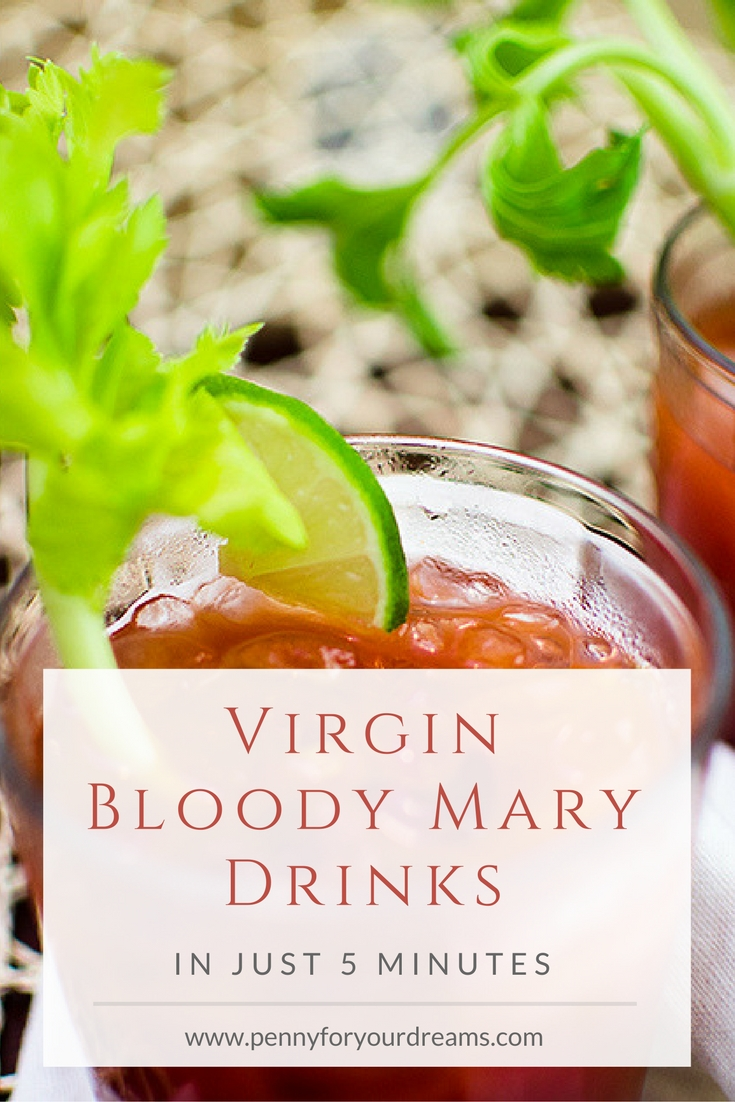 Virgin Bloody Mary Drinks | Healthy & Easy 5 Minute Recipe