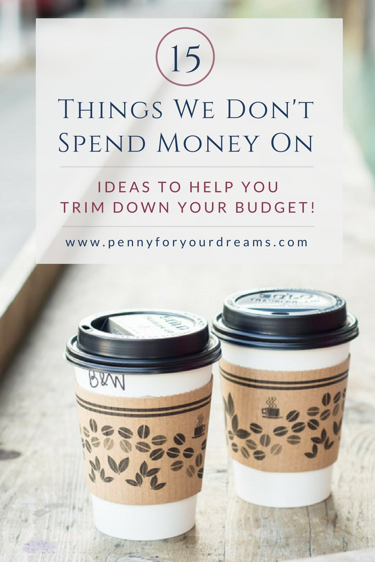15 Things We Don't Spend Money On | Ideas to Help You Trim Your Budget