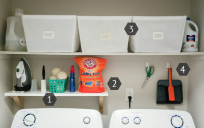 Laundry Room Organization on a Budget