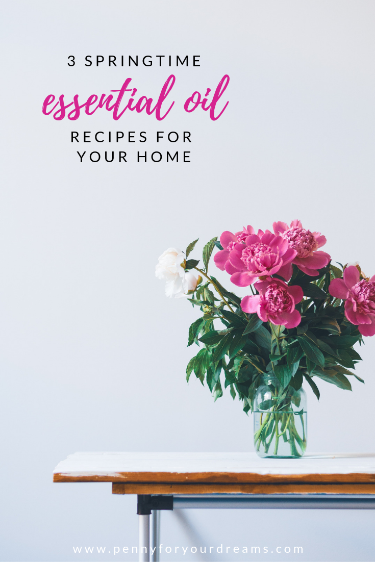 3 DIY Spring Essential Oil Blends for Your Diffuser