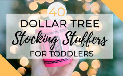 40 Dollar Tree Toddler Stocking Stuffer Ideas