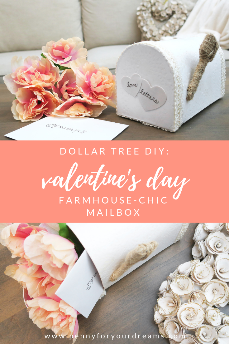 Dollar Tree Valentine's Day DIY | Farmhouse Valentine Mailbox Decor