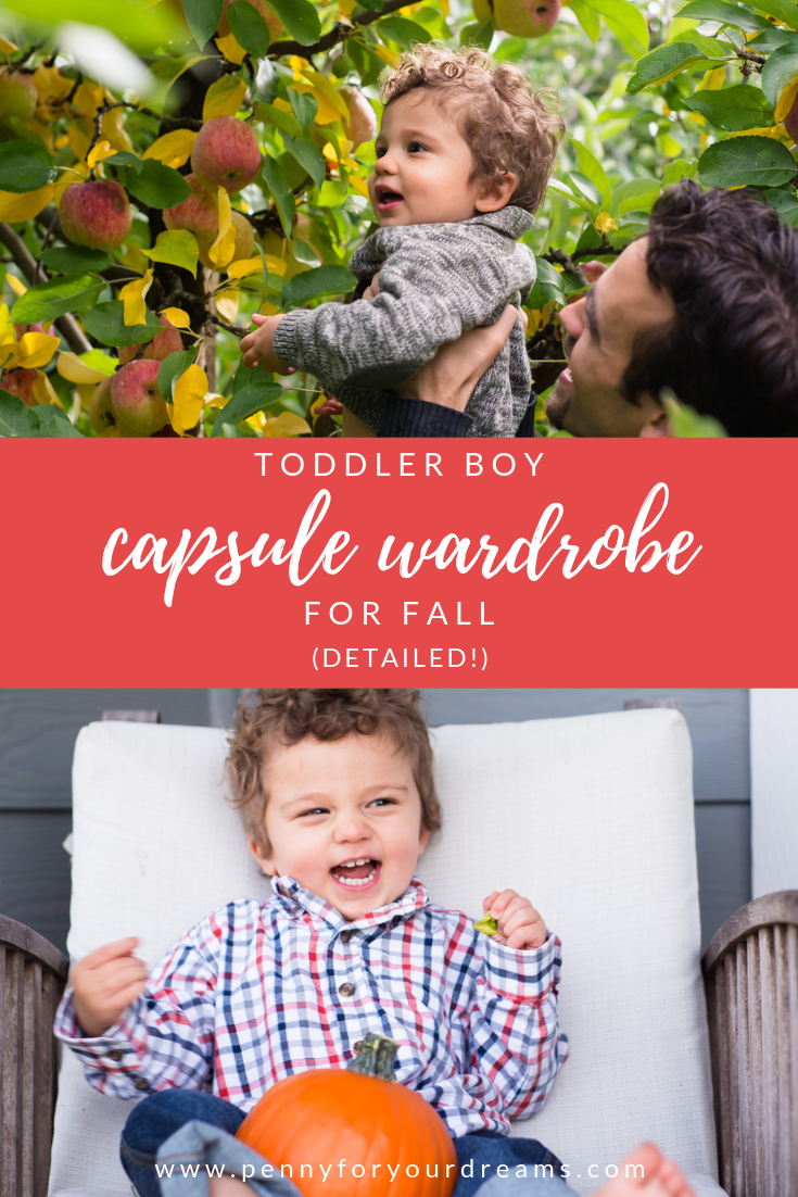 Detailed Toddler Boy Fall Capsule Wardrobe (with photos!)