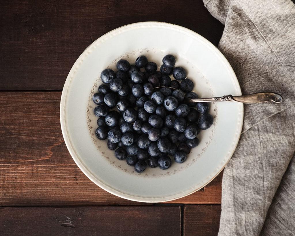 Freshly picked blueberries!