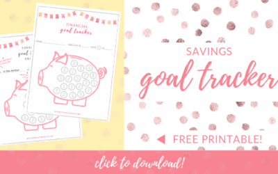 FREE Savings Goal Tracker | Piggy Bank Printable