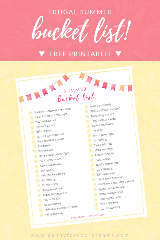 Frugal Summer Bucket List for Families!