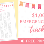 $1000 Emergency Fund Tracker | FREE Printable (Dave Ramsey Inspired)