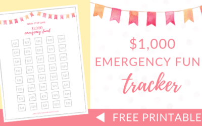 $1,000 Emergency Fund Tracker | FREE Printable (Dave Ramsey Inspired)