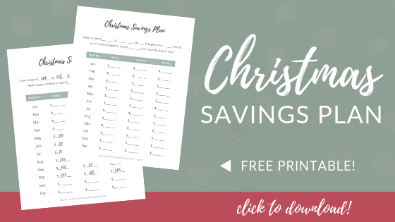 Christmas Savings Plan - FREE Printable! | Have a Debt-Free Christmas