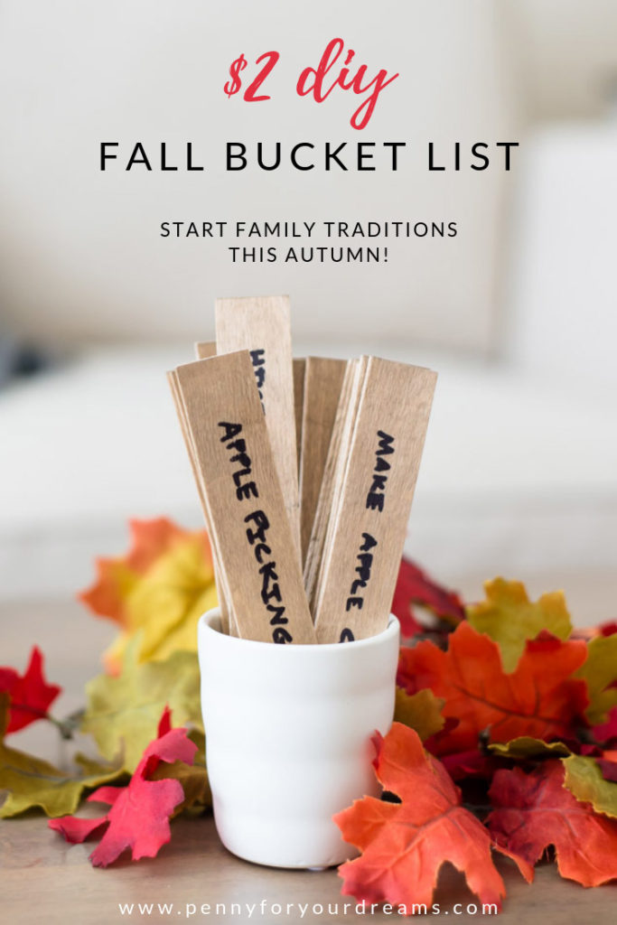 $2 DIY Fall Bucket List | Fall Family Traditions - FREE Printable!