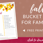 Fall Bucket List for Families - FREE Printable Checklist!