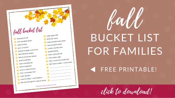 Fall Bucket List for Families – FREE Printable Checklist!